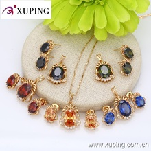 2016 Xuping Summer Fashion Wholesale Gold Plated Color Stone Jewelry