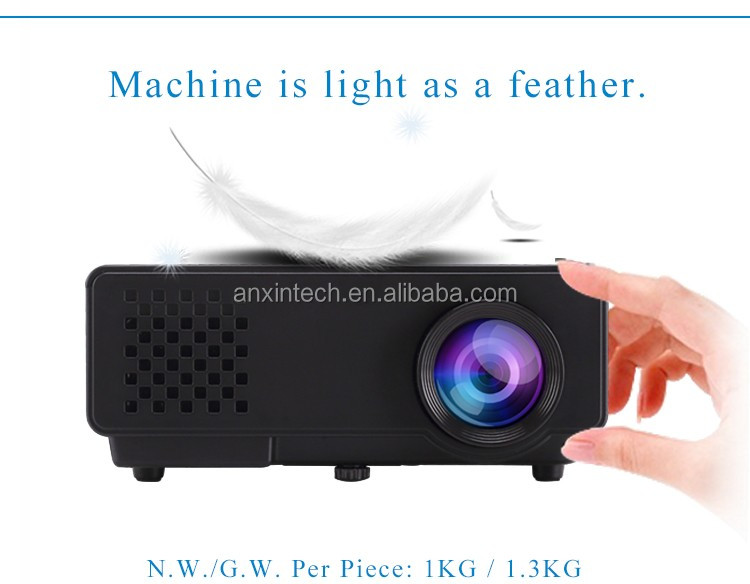 2017 Best Mini Projector Cheap Projector mobile phone with built in projector With Wifi Andriod os