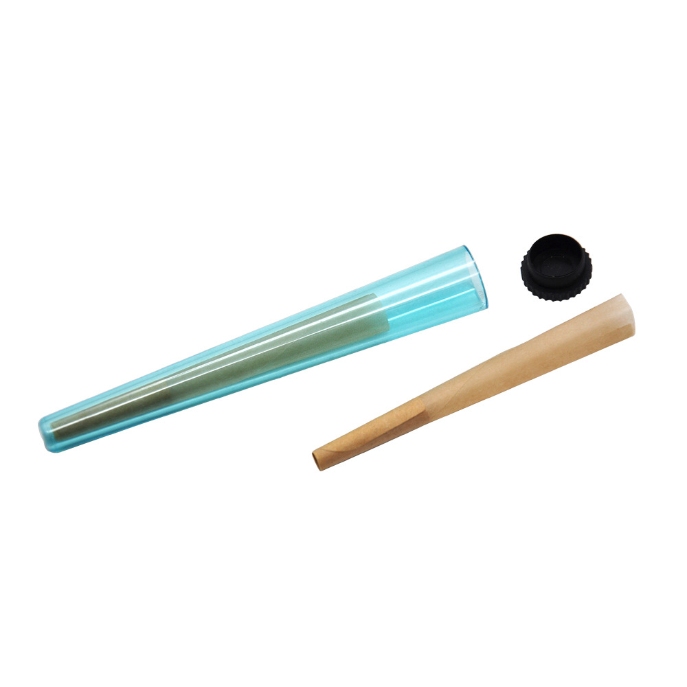 transparent custom cone filler cones print pre papers rolled hemp plastic joint holder doob tube tubes