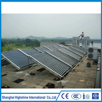 Hot selling solar pool water collector Vacuum Tube non-pressure Direct Flow Project Solar Collector