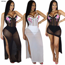 Factory price sexy ladies chiffon thigh split african style bodycon jumpsuits rompers