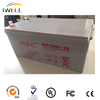 Rechargeable lead acid SMF type 12v 200ah Deep Cycle Battery for solar systems