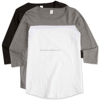 Crew Neck Blank T Shirts 100% Combed Ring Spun Cotton Color Block Style District Ladies Half Black Half White Shirt