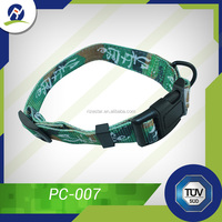 Fashion pet product cheap plain dog collars with clip