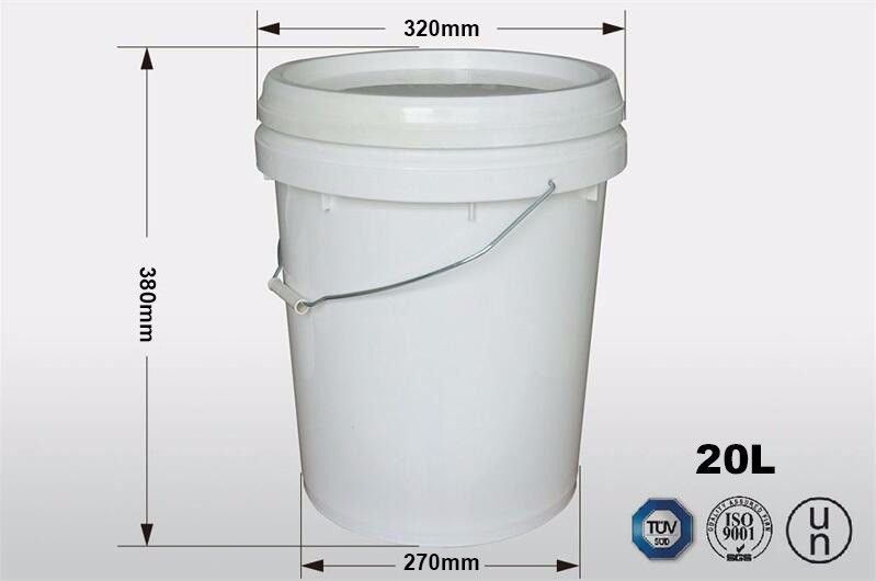 5 Gallon High Quality 100 Virgin Pp Plastic Round Paint
