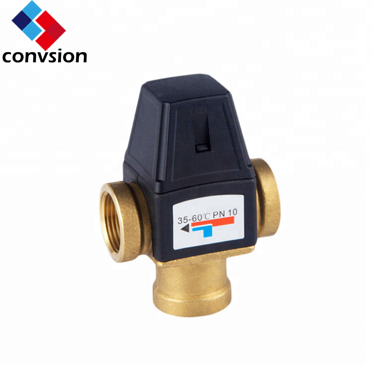 <strong>3</strong>/4&quot; Bathroom Thermostatic Shower Mixer Valve Solar System Brass Water Shower Mixing Valves