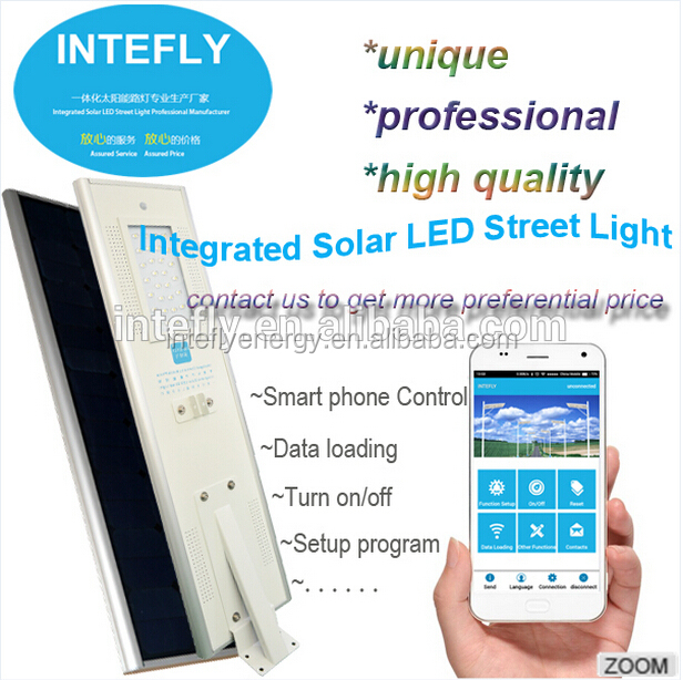 Outdoor transparent lenses bluetooth receiver all in one solar led street light for garden