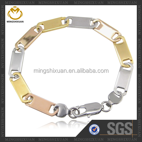 2015 Famous Brand Fashion Jewelry stainless steel wholesale gold bracelet 18k