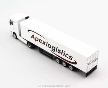 1:87 scale die cast miniature truck toy custom made, 7.87 inches long, promotional gifts.