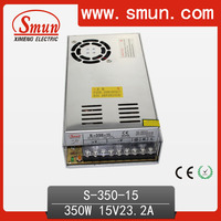 Enclosed 110V/220VAC Input 350W 15VDC Output Switch LED Power Supply