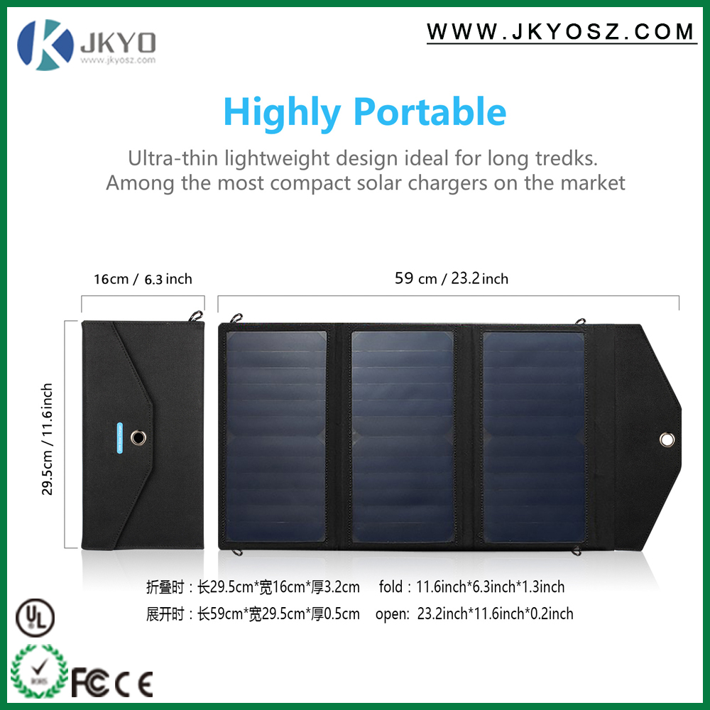 20W 5V Solar panel Cell Hot Sale Waterproof sunpower Solar Panel Folding Cell phone Charger