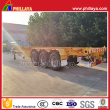 PHILLAYA 3 Axles Skeleton Semi Trailer/Wheel Chassis For 40FT Containers