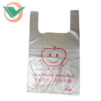 PE LDPE HDPE Packaging Printed T-shirt Shopping plastic tote bags with handles