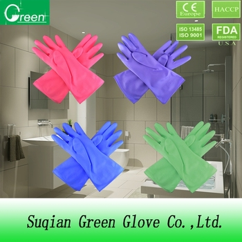 ISO/CE approved Colorful PVC household gloves