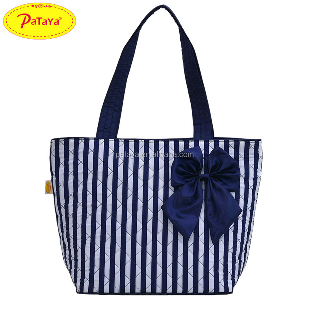 Women's bow hand the bill of lading shoulder bag Thai female bag dark cotton cloth bag