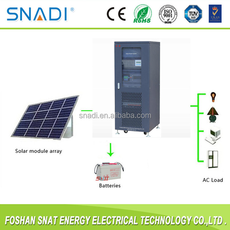 3 phase 380VAC off grid 20kw solar panel system