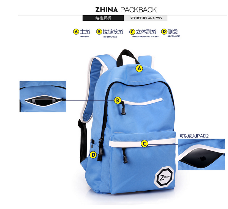 2016 Hot Sell Fashional Backpack Waterproof Backpack School Backpack