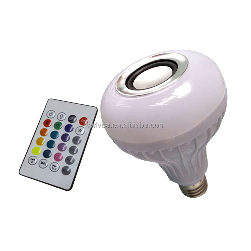 LED Bluetooth Smart Led Light Bulb Bluetooth Audio Speaker Music Playing Lighting Bulb With Remote Control
