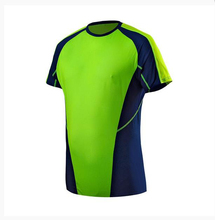 Nylon spandex dry fit custom Reflective prints running tee Close fitting Mesh tshirts soccer uniform design