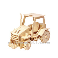 DIY 3D wooden toy R/C vehicle - Tractor
