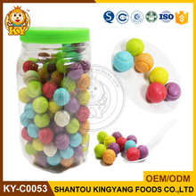 Colorful 4.5g Tennis Ball SM Bubble Gum in Jar