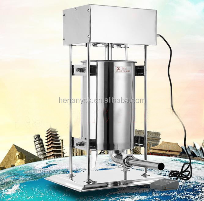 10L Electric stainless steel Sausage Stuffer Filling Machine pusher