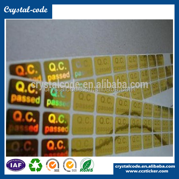 Various materials round paper qc pass sticker