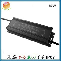CE SAA constant voltage PF 0.98 EFF88% waterproof led power supply 12v 60w