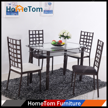 HomeTom Tempered Glass Dining Table Sets
