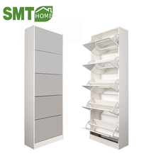 5 drawers with mirror furniture Tall wooden shoe rack cabinet