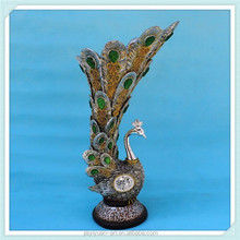 Facotry Price Polyresin Peacock Vase, Peacock Flower Vase for Home Decoration
