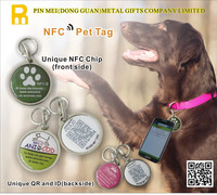 NFC Pet QR Code Pet Tags/Touch the NFC Tag Pet ID Tags/Metal Ntag213 Tags
