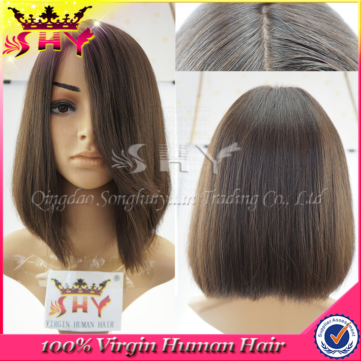 wholesale price best virgin hair quality short hair lace wig silk top
