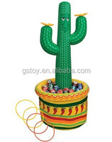 cactus shape inflatable indoor toy ring toss