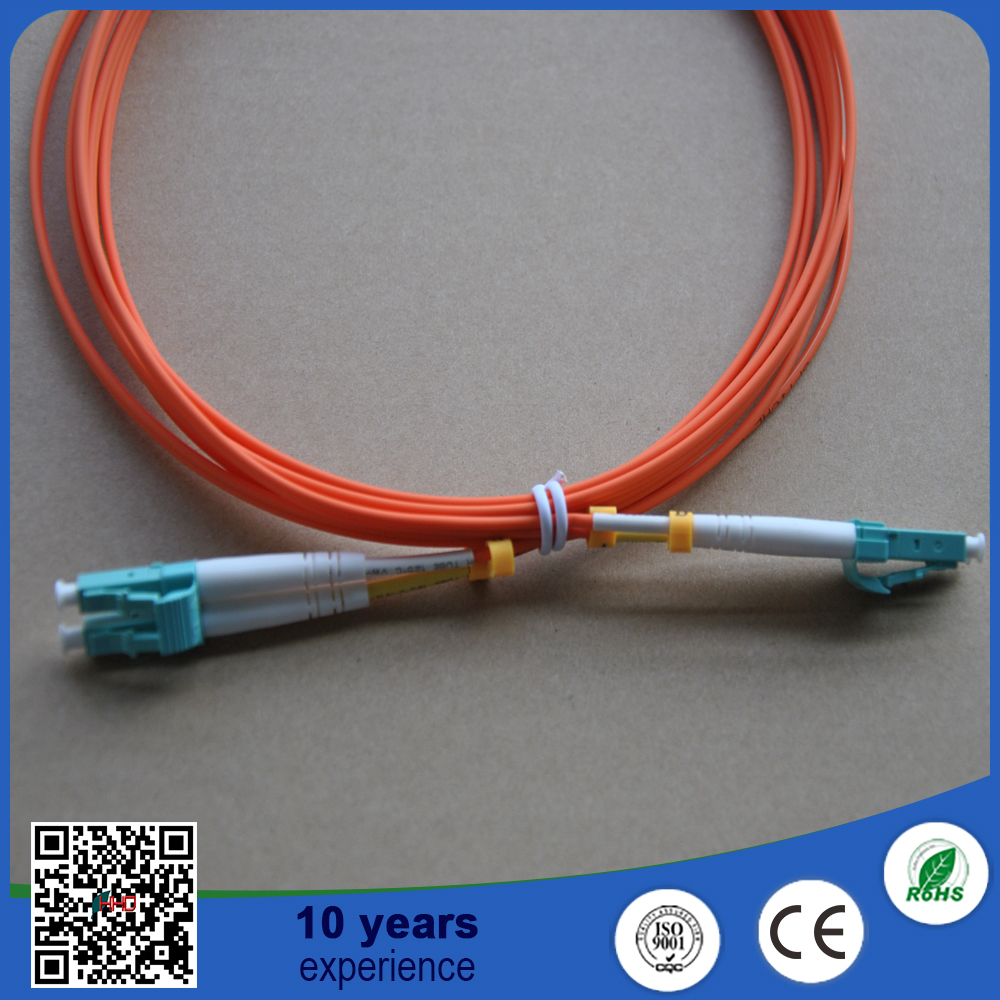 LC duplex flat Multimode 50 125 Fiber optisk OM2 kabel