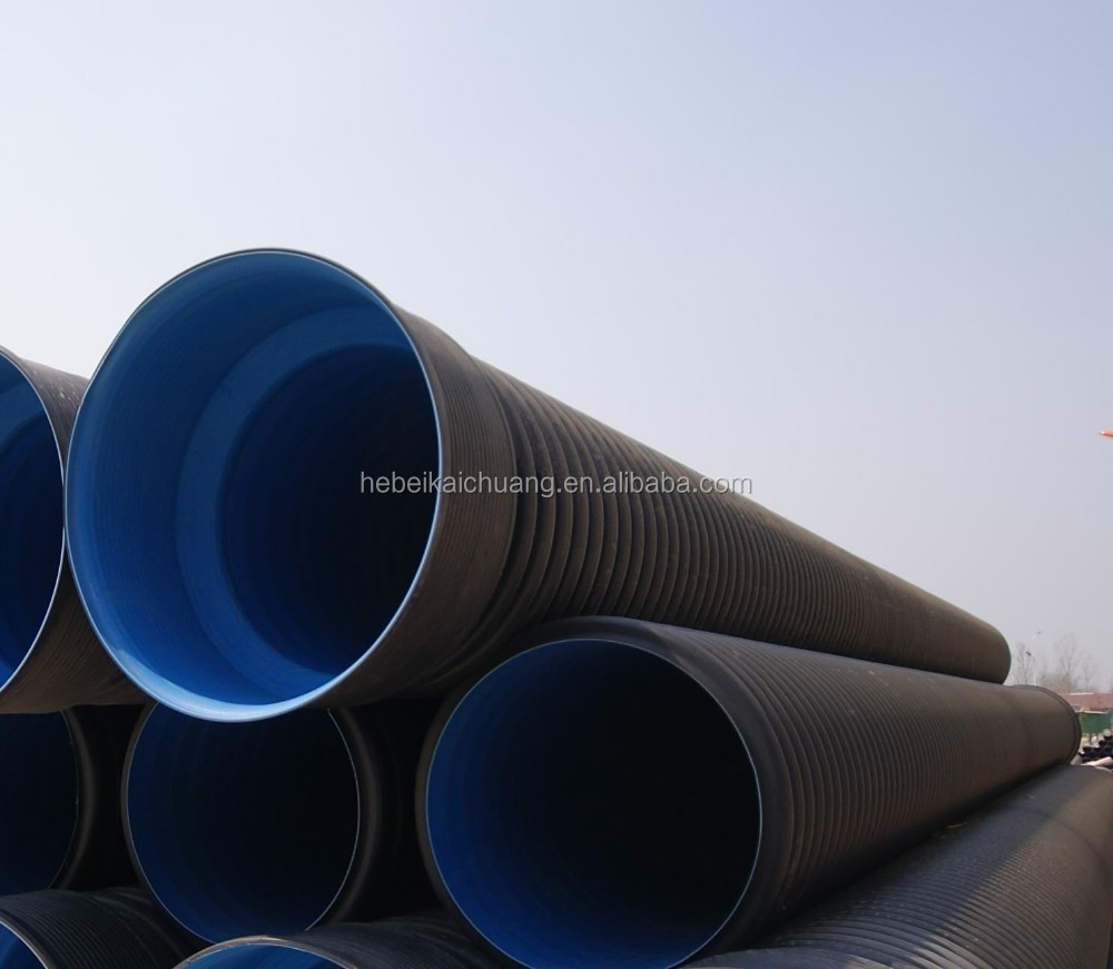 Cheap corrugated plastic drain pipe sizes find corrugated plastic - High Quality 2 Inch 24 Black Perforated Hdpe Double Wall Corrugated Plastic Drainage Tubing Pipe