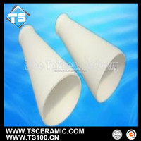 Anti-Corrosion 92 96 Alumina Cone Shape Tube/Cylinder for Lining