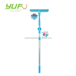 Window Washing Equipment- Microfiber Cloth & Rubber Squeegee Tool