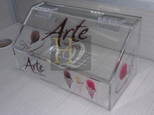 Acrylic Candy Holder Bin Dispenser Display Box (9.85''x5.12''x4.72'')