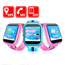 2017 Hot sell wholesale cheap touch screen kids gps smart watch Q750 baby sos phone watch