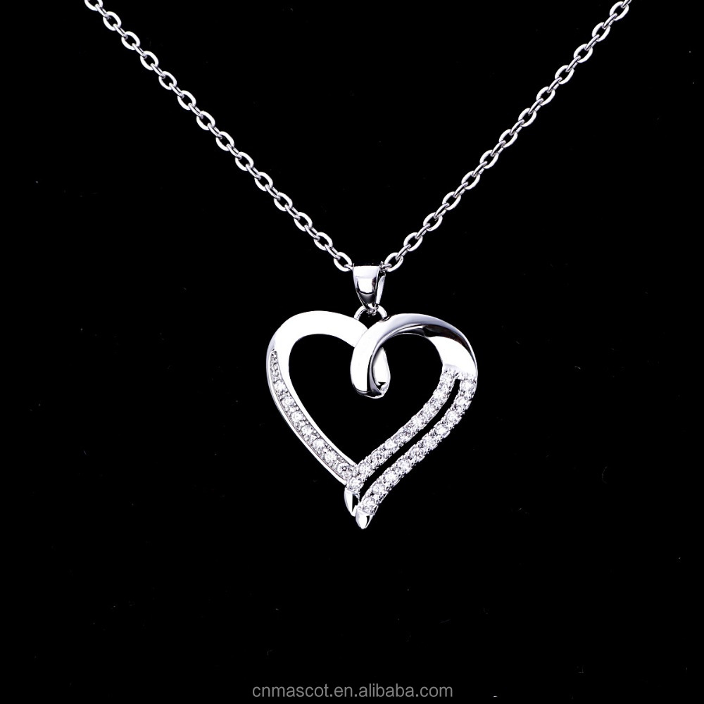 Wholesale 2017 Fashion New Arrival Love Heart Pendant Jewelry