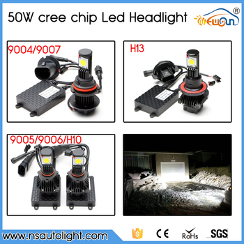 Plug And Play 50W 3600 Lumen h4 h13 h16 9005 9006 h8 h9 h11 H7 LED Headlight With CE Rohs