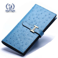 Colorful ostrich PU leather lady wallet