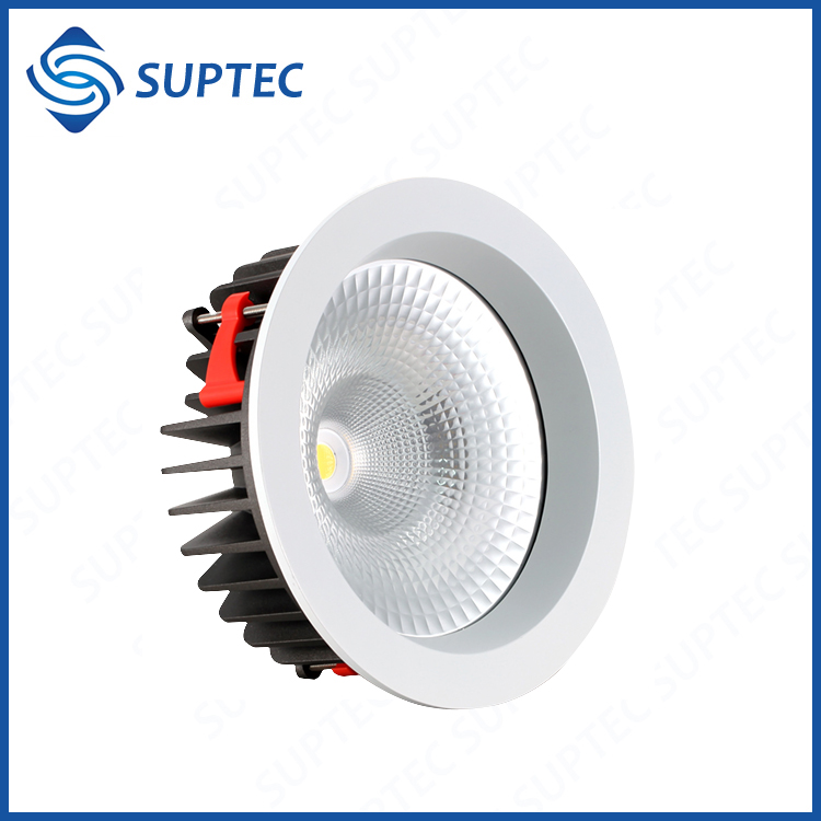 "40W 80 Degree 210MM Cutout Citizen COB 10"" LED Recessed Light Dimmable"