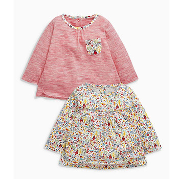 Lastest Mix color floral printed kids t-shirt wholesale
