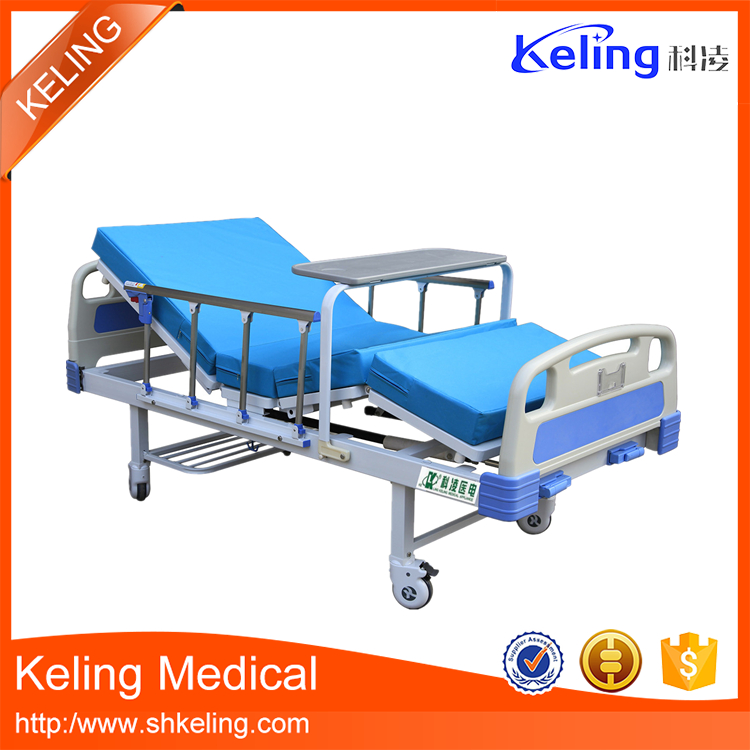 Factory wholesale reasonable price two crank manual home care hospital bed