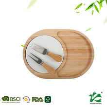 Natural bamboo material polypropylene cutting board for cheese