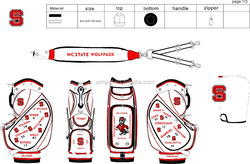 Customize leather golf bags OEM & ODM support golf staff bag, golf cart bag stand with embroidery design