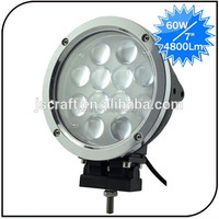 Warranty 2 year 12-30V 7 inch spot beam led driving off road 60W high power cree led work light