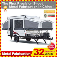customized made stainless steel off road mini caretta caravan